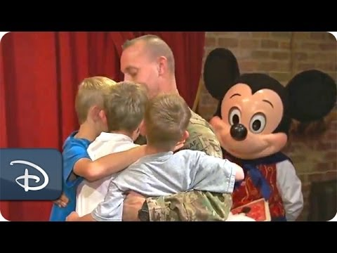 A Magical Reunion For A Military Family At Magic Kingdom Park | Walt Disney World | Disney Parks