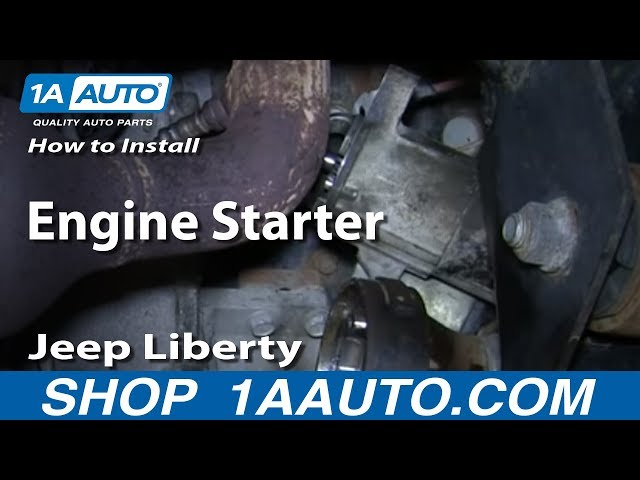 How To Install Replace Engine Starter 3.7L 4WD 2002-07 ...