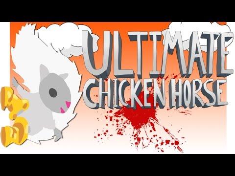 БЕЛКА В САПОГАХ! - ( Ultimate Chicken Horse ) ● Смешные моменты ● Монтаж #2