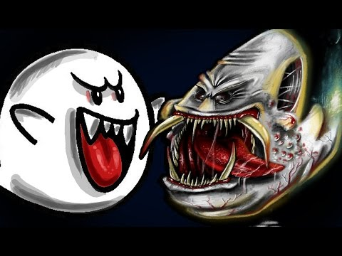 Speedpainting BOO (super mario series)!! by Davide Ruvolo speedpainter!!