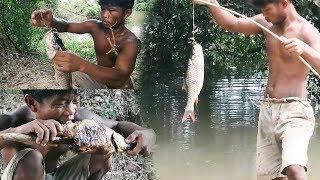 Primitive Technology, Primitive fishing, free line fishing