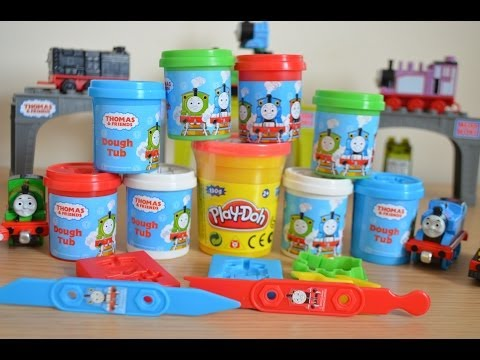Play Doh Thomas And Friends Thomas The Tank James Percy Harold Play-Doh Train Playset 托马斯&朋友