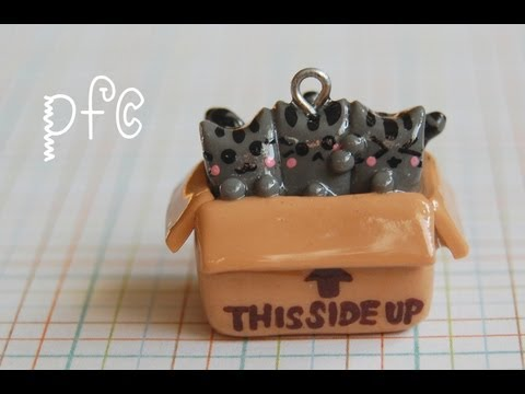 This Side Up ⇧ Pusheen Cats Polymer Clay Charm Tutorial