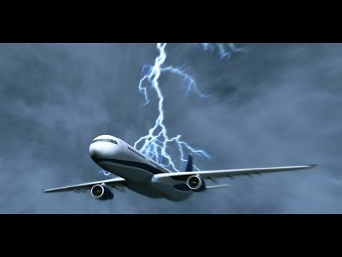 Удар молнией в самолёт. Алматы. / A lightning strike on the plane. Almaty