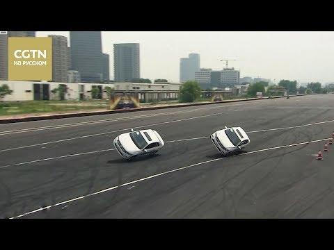 Автоколонна из 9 автомобилей выполнила трюк 360-градусного дрифта  [Age0+]