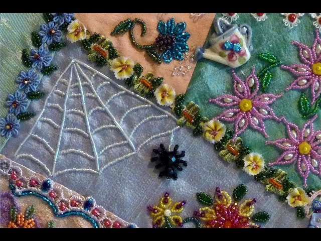Bead Embroidery Beaded Round Edge Flower Petals