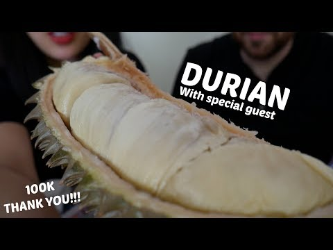 (THANK YOU FOR 100K) EXOTIC THAI DURIAN MUKBANG FEAST   SAS-ASMR *Special Guest*
