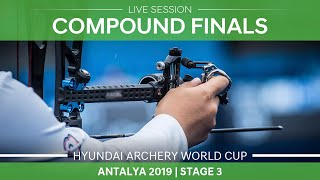 Live Session Compound mixed team and individual finals Antalya 2019 World Cup S3