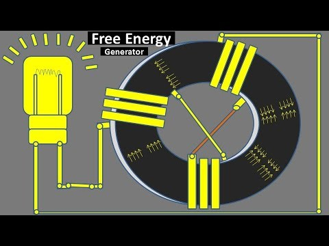 Free Energy Generator with Light Bulb and Powerful Magnet || How to Make thumbnail