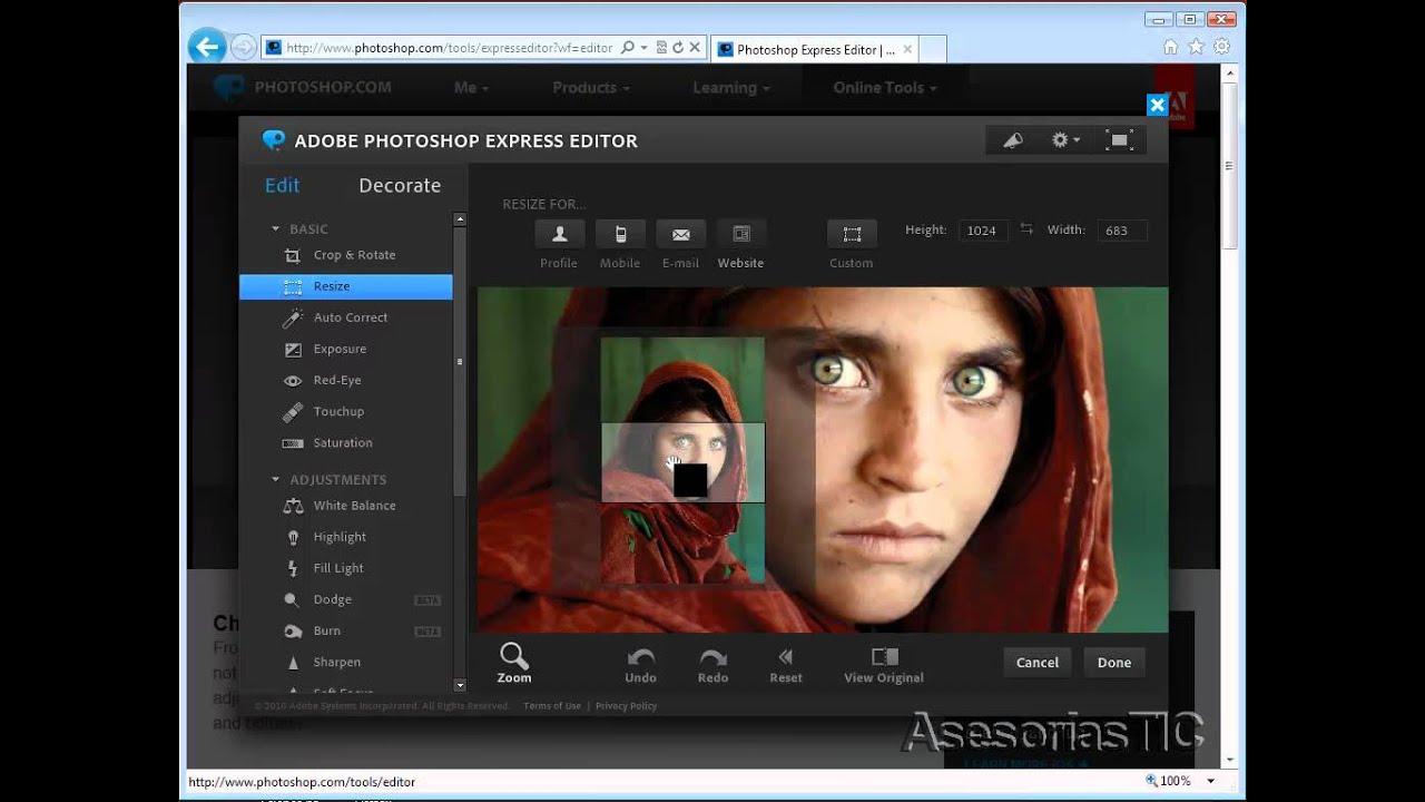 Like photoshop online photo editor