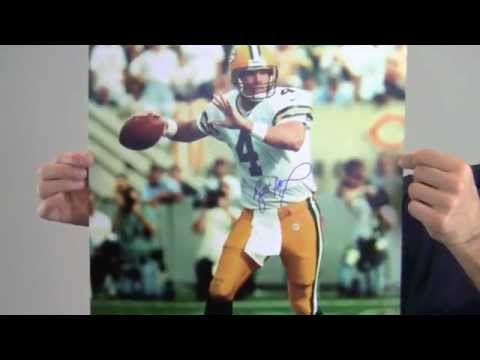 Signed Brett Favre Packers Photo - 16x20 JSA