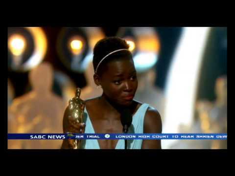 Lupita Nyong'o wins supporting actress Oscar for '12 Years a Slave'