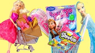 Frozen Elsa SHOPPING HAUL ★ Barbie SHOE SHOPPING SURPRISE ★dress up girls games