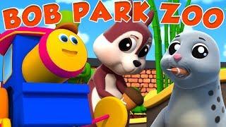 Bob o trem | indo ao zoológico | aprender animais para crianças | Going To Zoo | Kids Tv Português