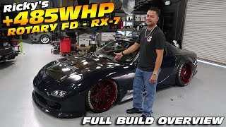 INSIDE RICKY'S +485HP FD RX-7 BUILD - ENTIRE MOD LIST!
