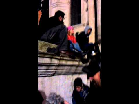 Occupy London - Little girl fights for a better world