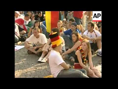 Huge crowds gather outside stadium and at Berlin fan mall