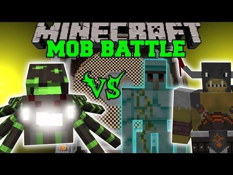 Mutant Forest Spider Vs Diamond Golem & General Graardor - Minecraft Mob Battles - Minecraft Mods video