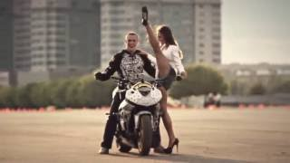 Motorcycle Stunts for a Sexy Girl