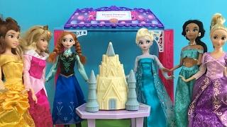 Dentist! Doctor! Shopping & Bake Off! Elsa Anna & Disney Princess Dolls Movie in English!