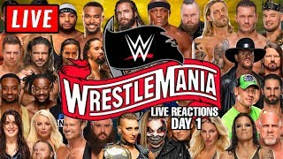 🔴 WWE Wrestlemania 36 Live Stream Day 1 Reactions - Full Show Watch Along