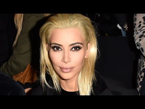 Kim Kardashian PLATINUM Blonde Hair!