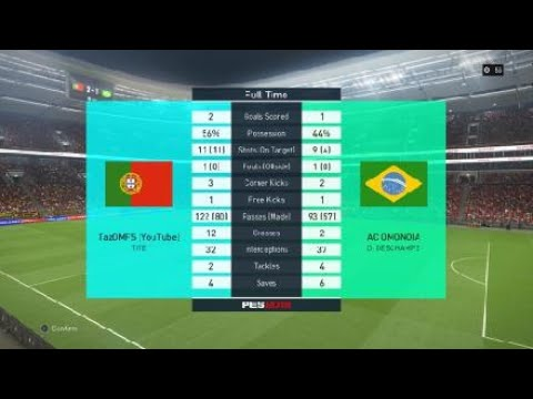 When all your shots on target !! PES18 myclub online division game highlights