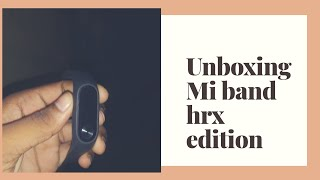 Unboxing Mi Band Hrx edition// best budget fitness band only 1,299