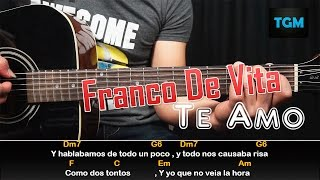Como Tocar - TE AMO - FRANCO DE VITA - Guitarra Tutorial FACIL (HD)