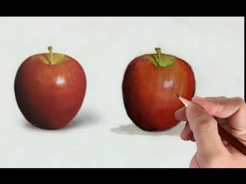 Draw an Apple- Illustration Technique with Markers and Color Pencils Video