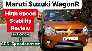 2019 Maruti Suzuki WagonR - High Speed Stability Review (Hindi + English)