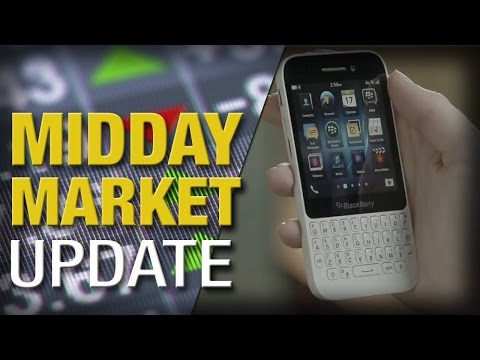 Stocks Are Lower on Fed Uncertainty; BlackBerry Pops on Buyback Plan