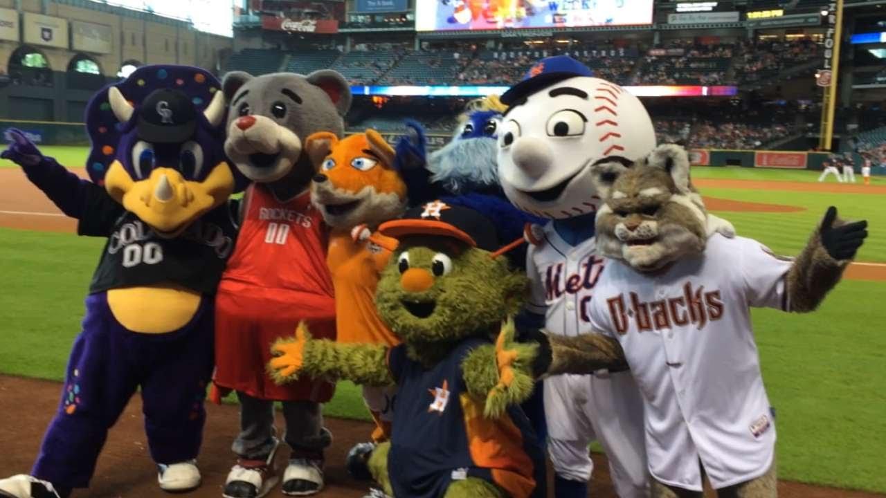 Fans, mascots celebrate Astros' Orbit's birthday