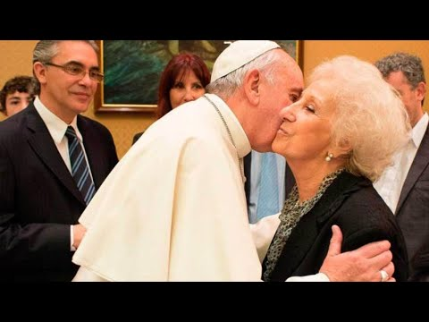 Estela de Carlotto sobre Jorge Bergogio (papa Francisco) antes y después