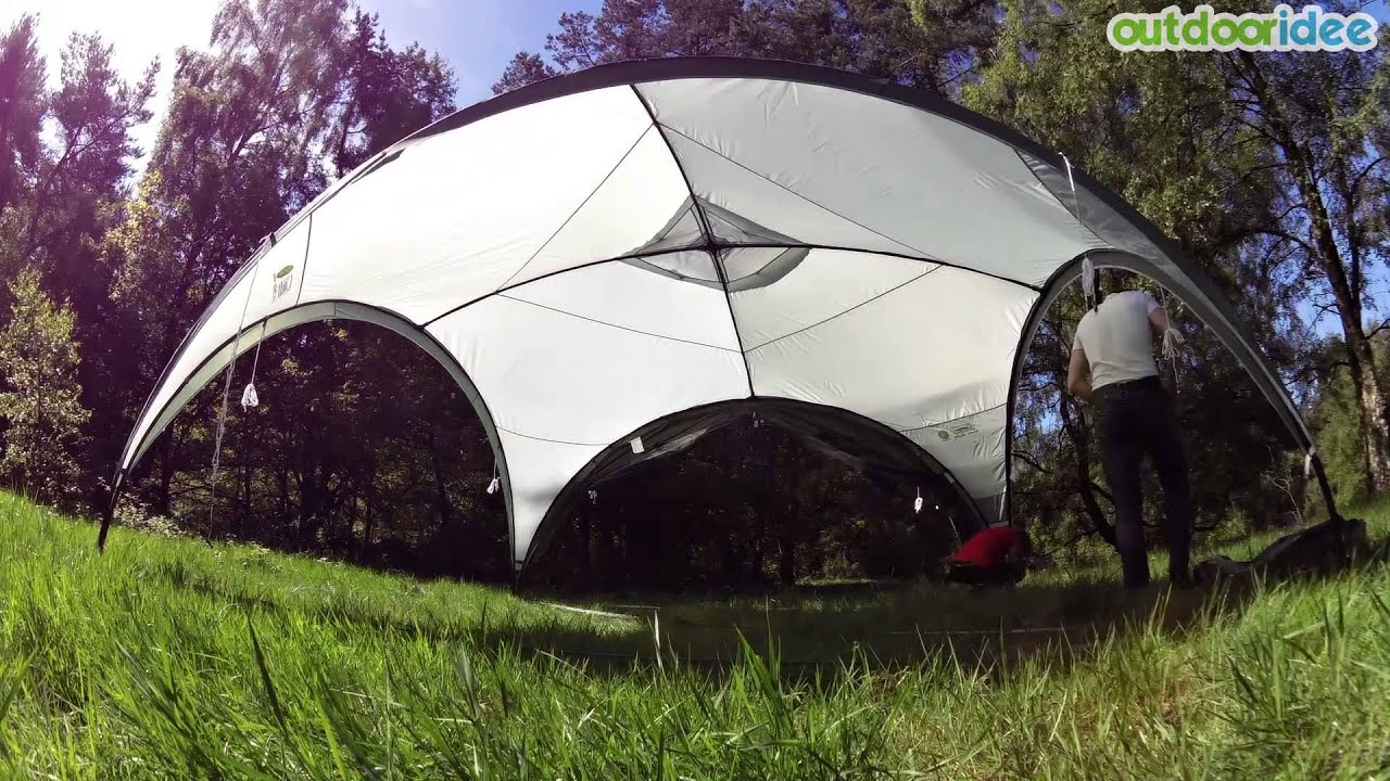 Coleman Event Shelter 4 5 x 4 5 m - YouTube