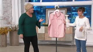 Belle by Kim Gravel Girlfriend Shirt with Zipper Pockets on QVC