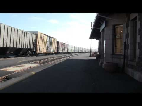 UP 5491 North at Klamath Falls OR. (HD)