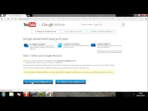 How To Link AdSense to YouTube Tutorial 2013 - The easy way