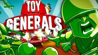 New ARMY MEN Game!  Green Plastic Men Home INVASION! (Toy Generals Part 1)