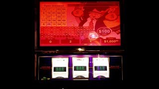 $100 MR.MONEY BAGS - POLAR HIGH ROLLER -CRAZY CHERRY WILD FRENZY Choctaw Casino, Durant VGT Slots