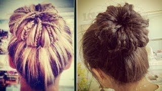 Braided Sock Bun Updo Hair Tutorial