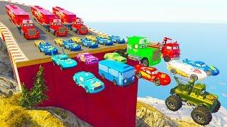 Phim Hoạt Hình ô tô đồ chơi tia chớp McQueen, xe cứu hỏa - Nhạc thiếu nhi vui nhộn cho bé