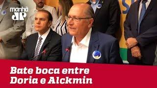Alckmin interrompe Doria em reunião do PSDB: 'Traidor eu não sou'