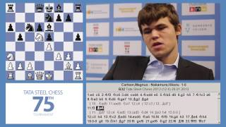 Tata Steel Chess 2013 - Analysis - Magnus Carlsen shows his win against Nakamura round 12