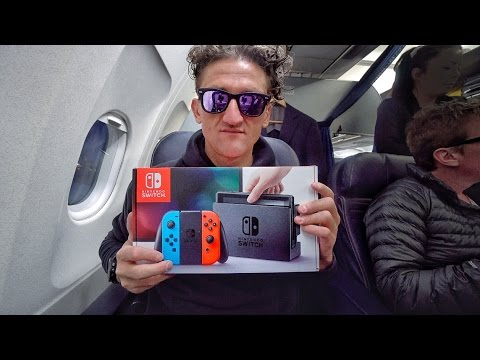 Nintendo Switch on an Airplane