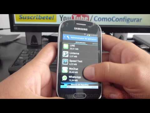 como borrar una aplicacion android samsung galaxy Fame S6810 español Full HD