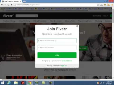 How to Sign Up for Fiverr