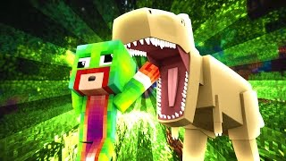 Minecraft - WHO'S YOUR DADDY? BABY BLOWS UP T-REX! (Baby Jurassic World)