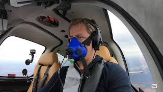 Flying an UNPRESSURIZED SMALL AIRPLANE As High as The Airlines