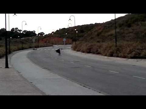 Ostión!! caida en descenso con Longboard Original Pintail 43